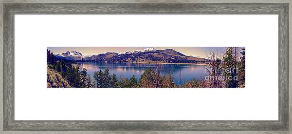 June Lake Panorama Framed Print