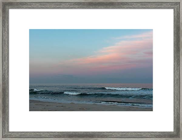 June Sky Seaside New Jersey Framed Print