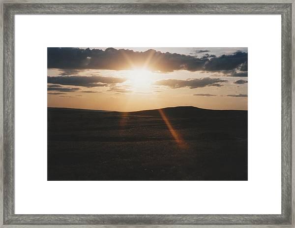 June Sun Rays North Dakota Framed Print by Gene Linder