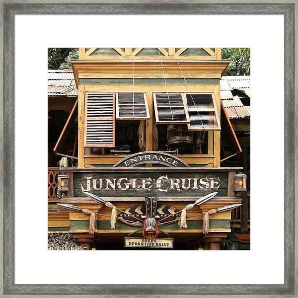 Jungle Cruise - Disneyland Framed Print
