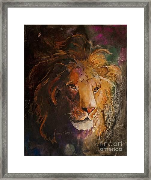 Jungle Lion Framed Print