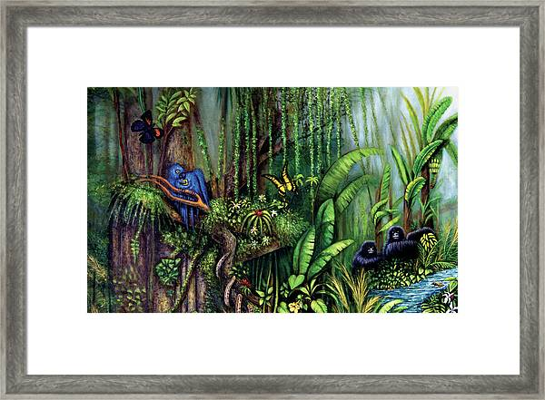 Jungle Talk Framed Print