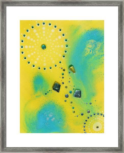 Jupiter Blue Framed Print