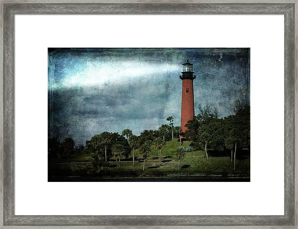 Jupiter Lighthouse-2a Framed Print