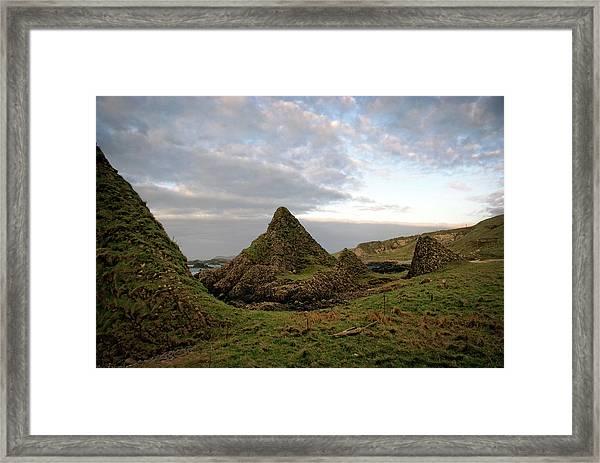 Jurassic Coastline At Ballintoy Framed Print