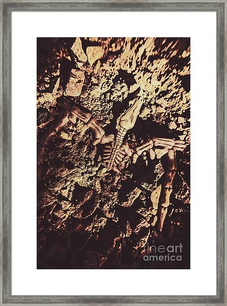 Jurassic Grave Framed Print