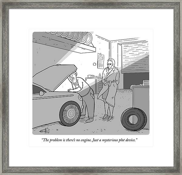 Just A Mysterious Plot Device Framed Print by Ellis Rosen