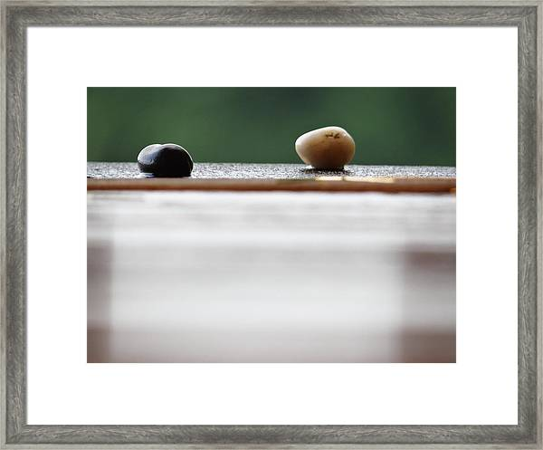 Just A Stones Throw Away Framed Print