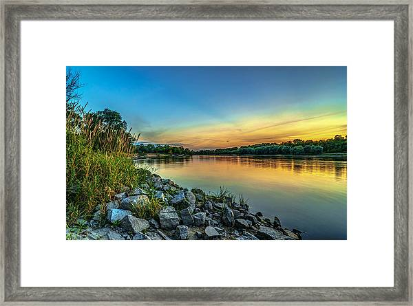 Just After Sun Went Down Framed Print