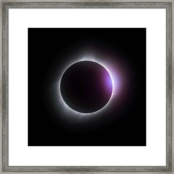 Just After Totality - Solar Eclipse August 21, 2017 Framed Print