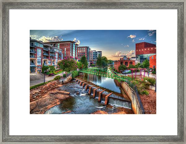 Just Before Sunset 2 Reedy River Falls Park Greenville South Carolina Art Framed Print