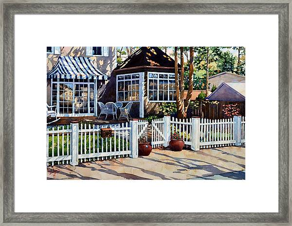 Just Beyond The Pickets Framed Print