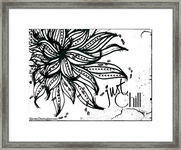 Framed Print featuring the drawing Just Chill by Rachel Maynard