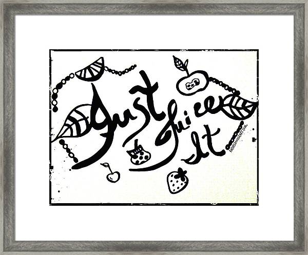 Framed Print featuring the drawing Just Juice It by Rachel Maynard