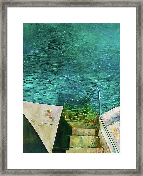 Just Jump In Framed Print