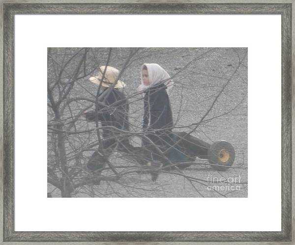 Just Like Mom And Dad Framed Print