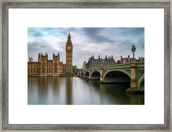 Just Past Six Framed Print