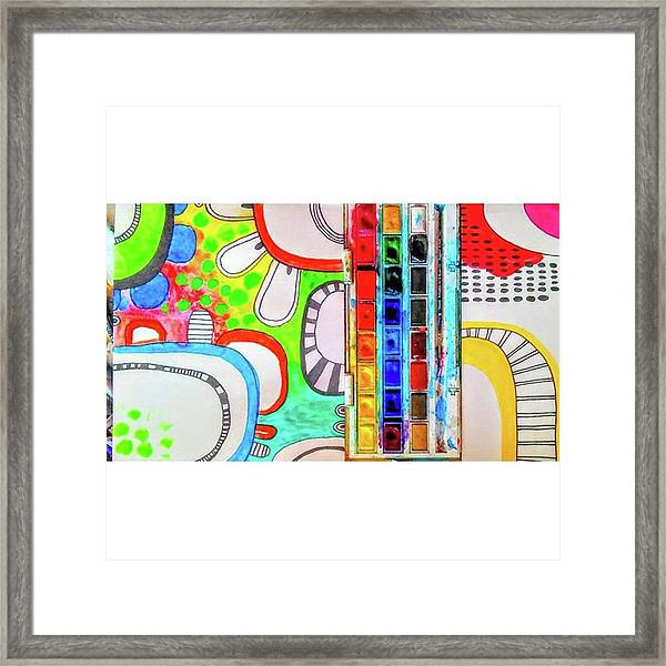Just Playing With Some #shapes And Framed Print