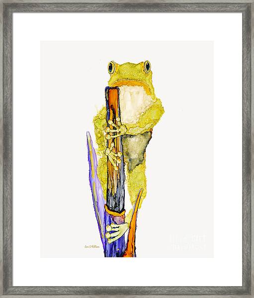 Just Standing Here Framed Print
