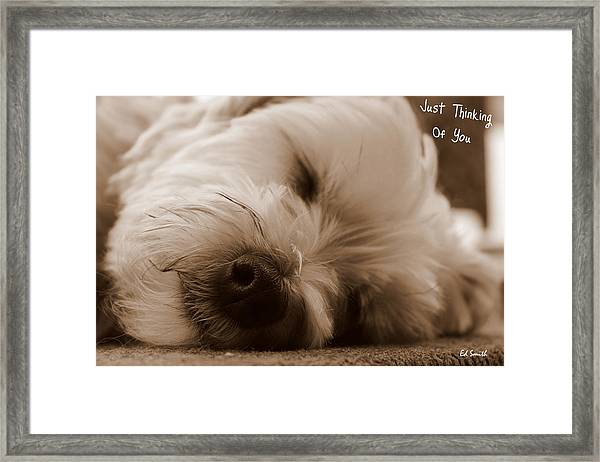 Just Thinking Of You Framed Print