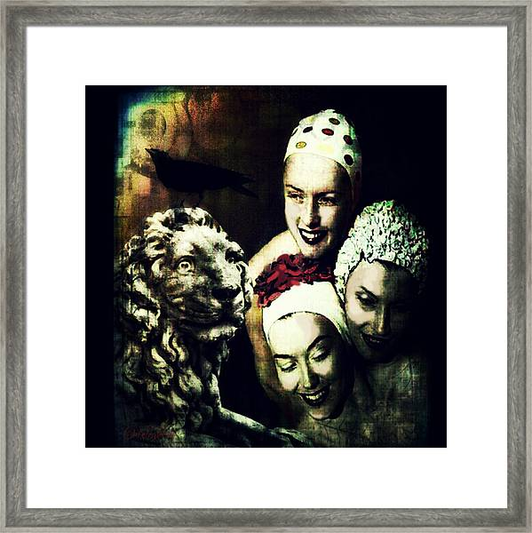 Just Washed My Hair Framed Print