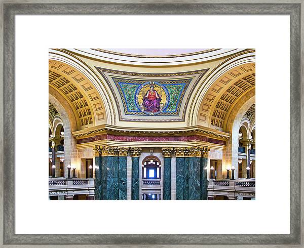 Justice Mural - Capitol - Madison - Wisconsin Framed Print