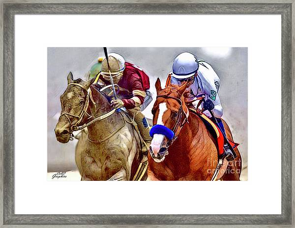Justify In The Lead Framed Print