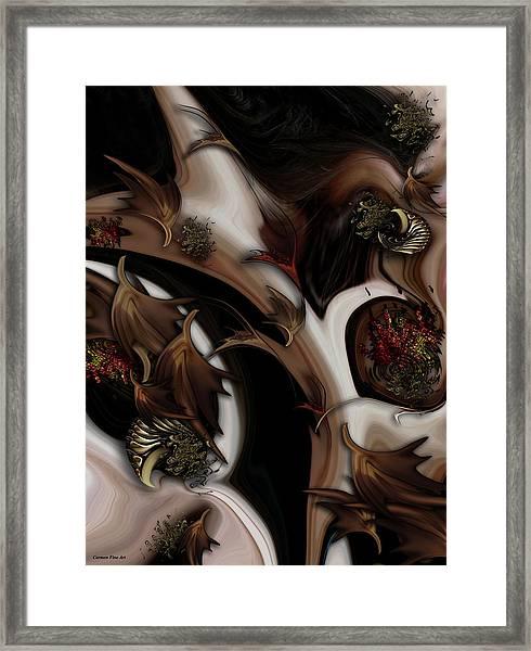Juxtaposed Nature Framed Print