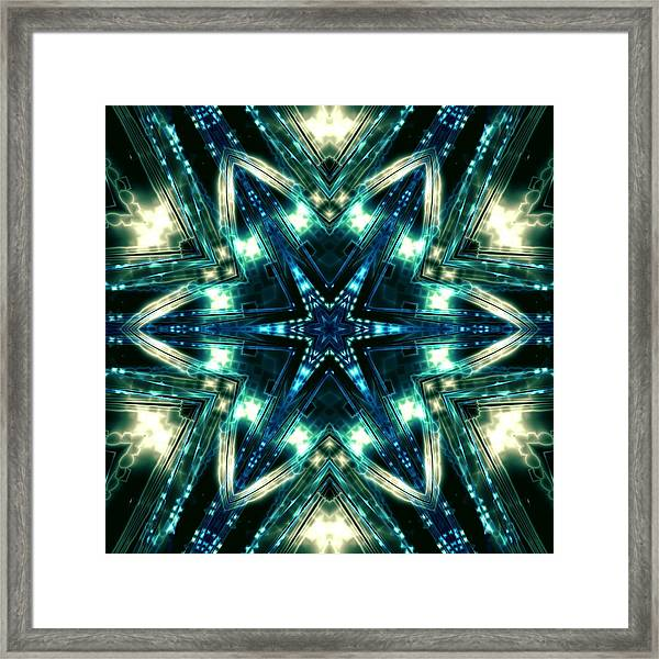Framed Print featuring the digital art Jyoti Ahau 100 by Robert Thalmeier