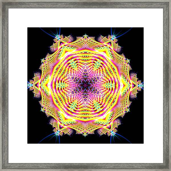 Framed Print featuring the digital art Jyoti Ahau 112 by Robert Thalmeier