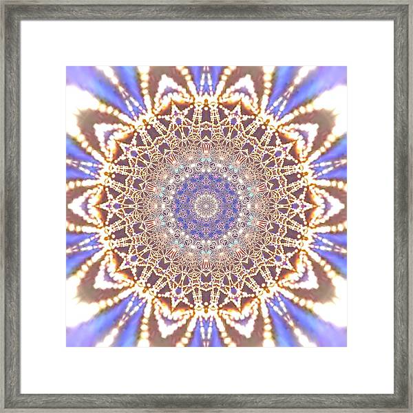 Framed Print featuring the digital art Jyoti Ahau 14 by Robert Thalmeier