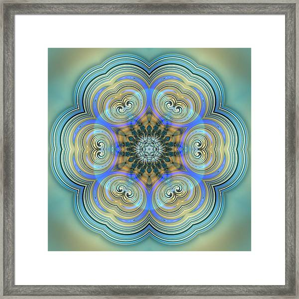 Framed Print featuring the digital art Jyoti Ahau 140 by Robert Thalmeier