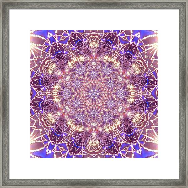 Framed Print featuring the digital art Jyoti Ahau 15 by Robert Thalmeier