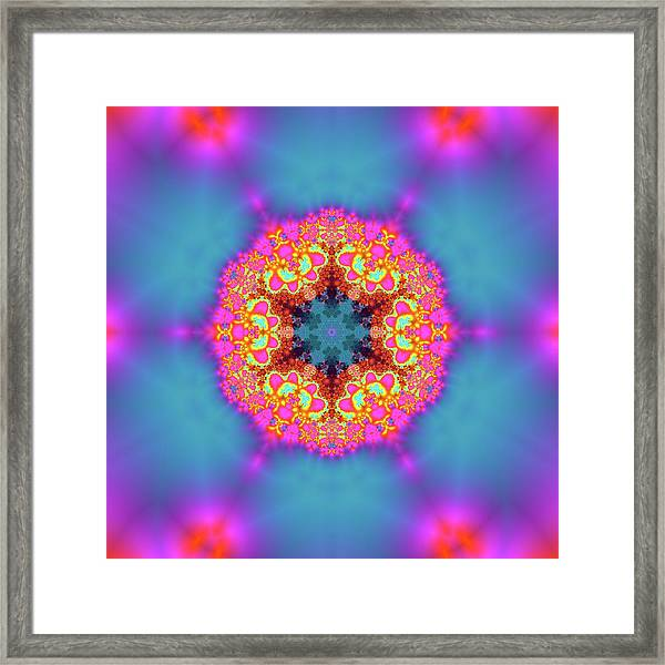 Framed Print featuring the digital art Jyoti Ahau 192 by Robert Thalmeier
