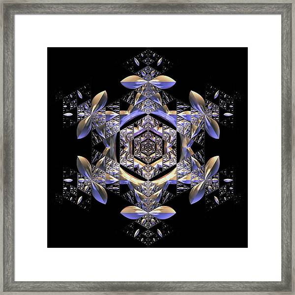 Framed Print featuring the digital art Jyoti Ahau 198 by Robert Thalmeier