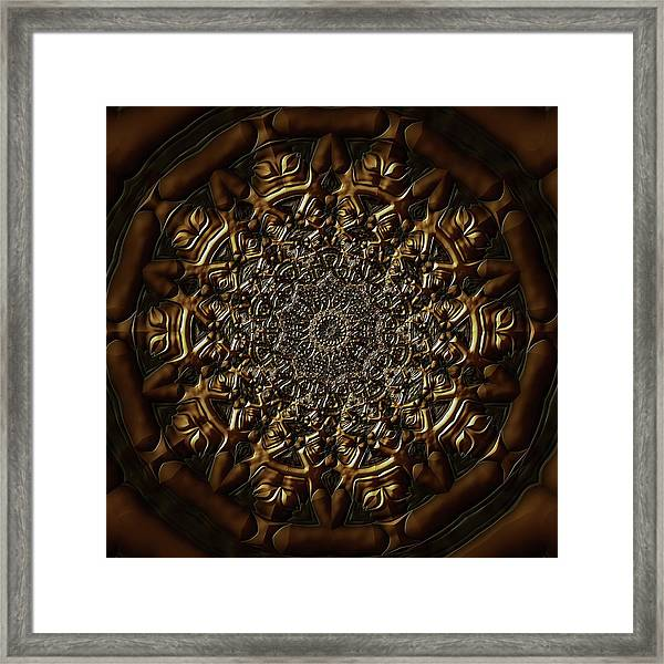 Framed Print featuring the digital art Jyoti Ahau 209 by Robert Thalmeier