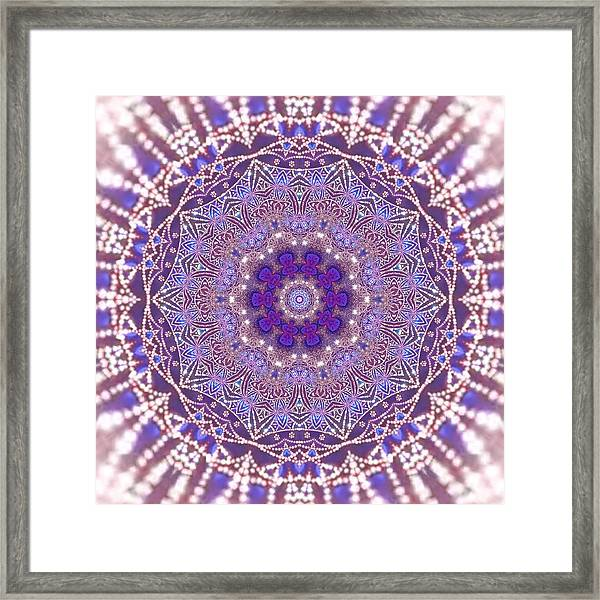 Framed Print featuring the digital art Jyoti Ahau 21 by Robert Thalmeier