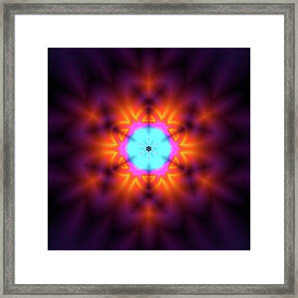 Framed Print featuring the digital art Jyoti Ahau 216 by Robert Thalmeier
