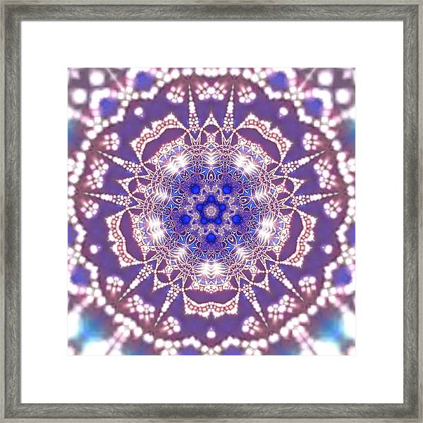 Framed Print featuring the digital art Jyoti Ahau 22 by Robert Thalmeier