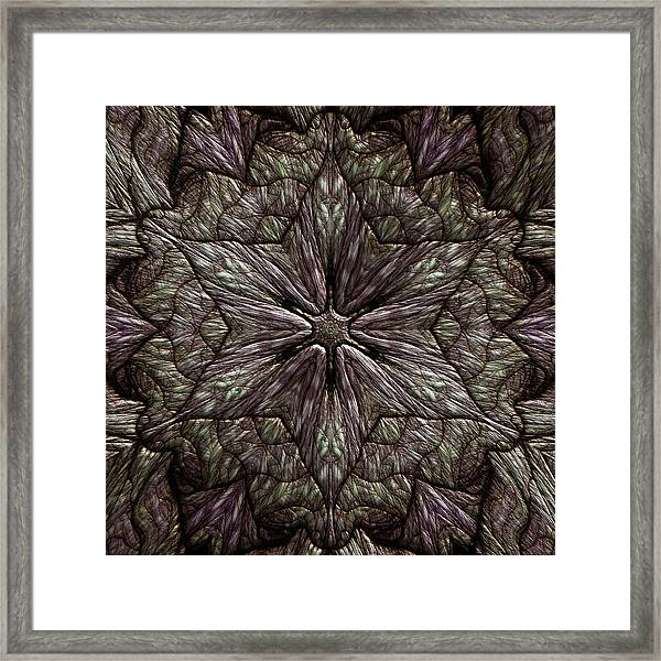 Framed Print featuring the digital art Jyoti Ahau 220 by Robert Thalmeier
