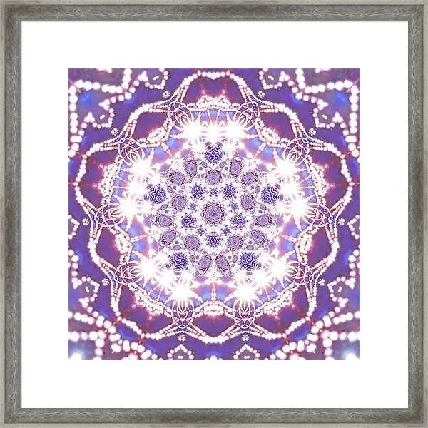 Framed Print featuring the digital art Jyoti Ahau 23 by Robert Thalmeier