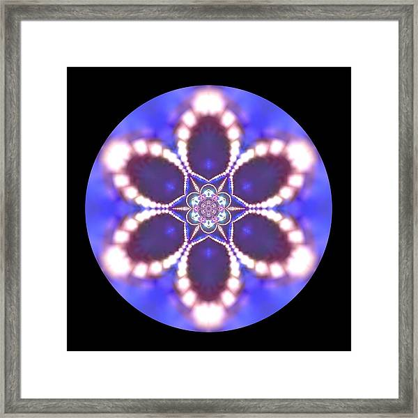 Framed Print featuring the digital art Jyoti Ahau 24 by Robert Thalmeier