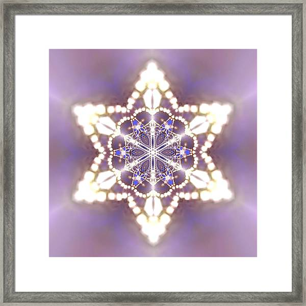 Framed Print featuring the digital art Jyoti Ahau 27 by Robert Thalmeier