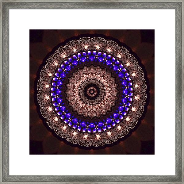 Framed Print featuring the digital art Jyoti Ahau 38 by Robert Thalmeier
