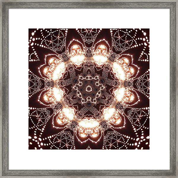 Framed Print featuring the digital art Jyoti Ahau 45 by Robert Thalmeier