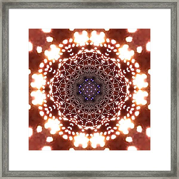 Framed Print featuring the digital art Jyoti Ahau 46 by Robert Thalmeier
