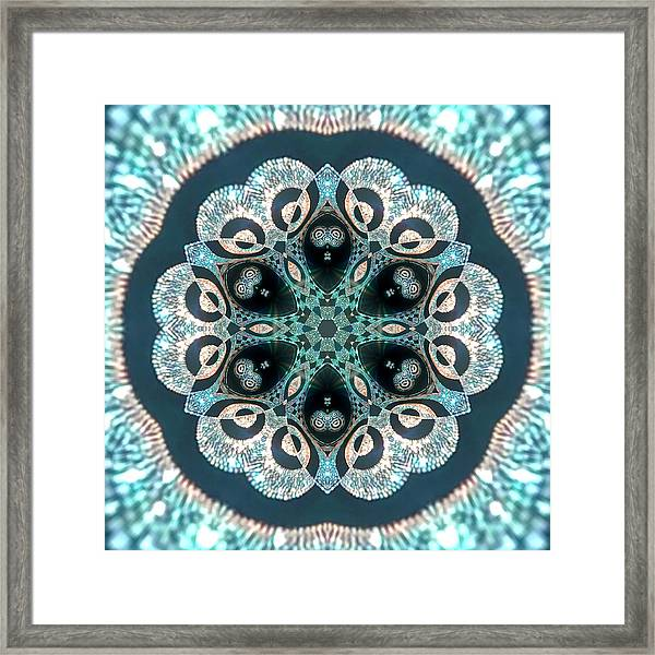 Framed Print featuring the digital art Jyoti Ahau 50 by Robert Thalmeier