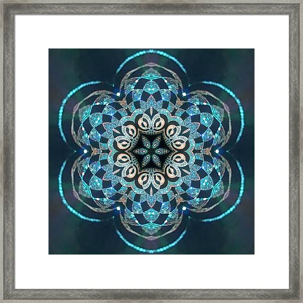 Framed Print featuring the digital art Jyoti Ahau 53 by Robert Thalmeier