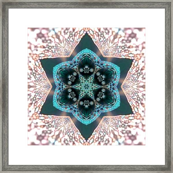 Framed Print featuring the digital art Jyoti Ahau 55 by Robert Thalmeier