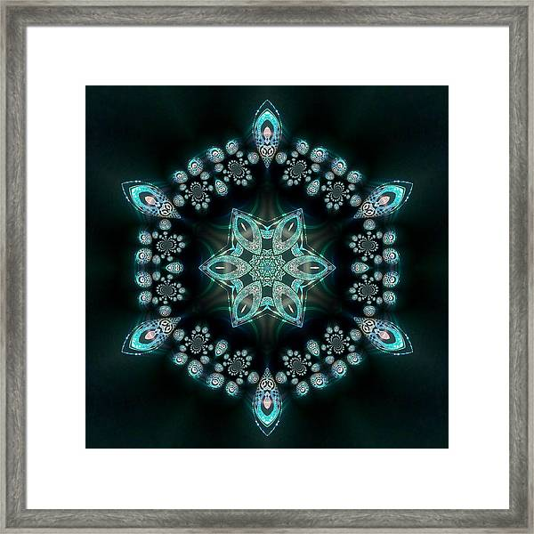 Framed Print featuring the digital art Jyoti Ahau 58 by Robert Thalmeier